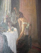 Lady at Toilette